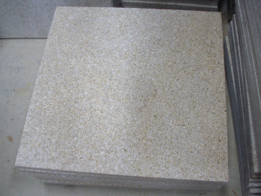 G682 Rusty Yellow Granite Bush-hammered