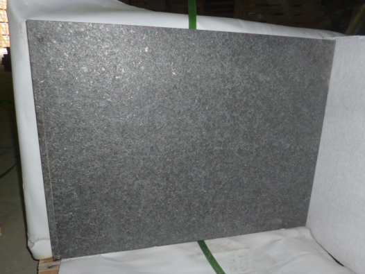 G684 Pearl Black Basalt Granite Flamed