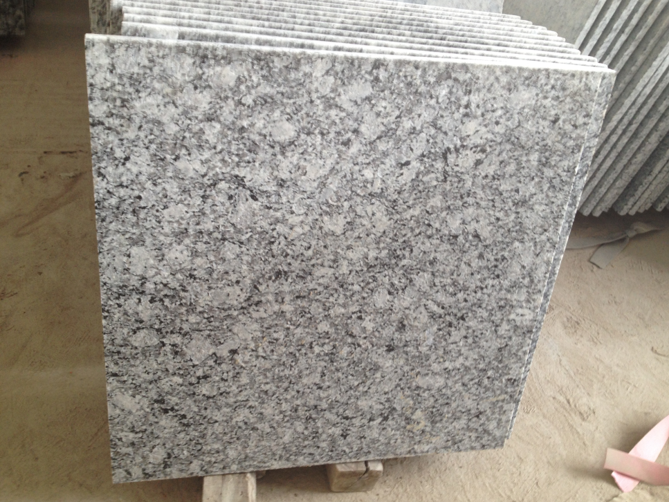 Wave White Flamed Granite Tiles