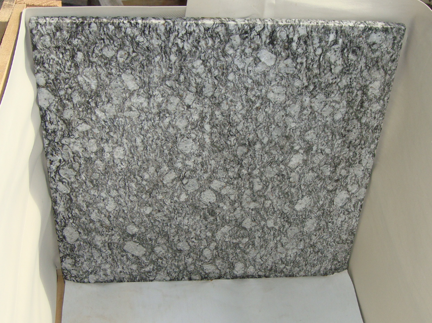 Wave White Polished Granite Tiles