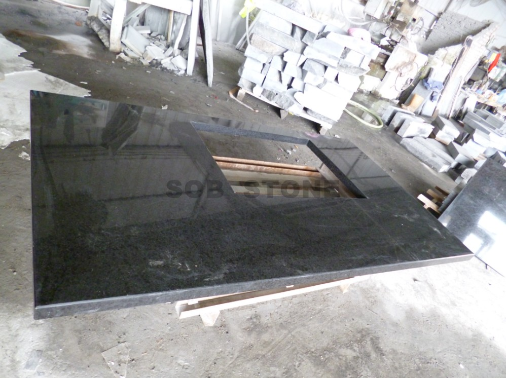 G684 Pearl Black Granite Countertops