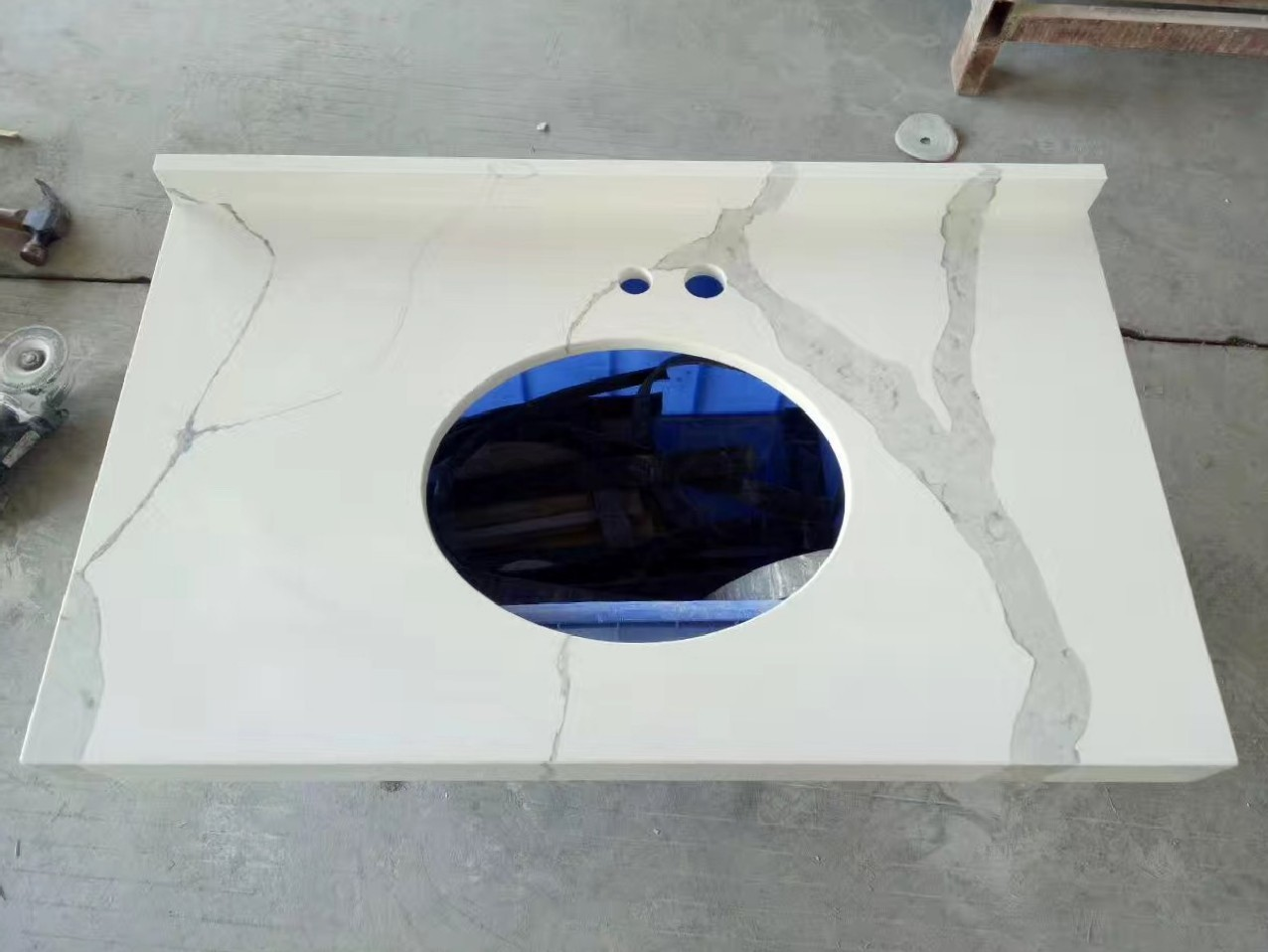 Calacatta White Quartz Bathroom Vanity Tops