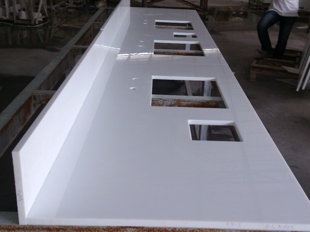 White Nano Crystallized Glass Countertops