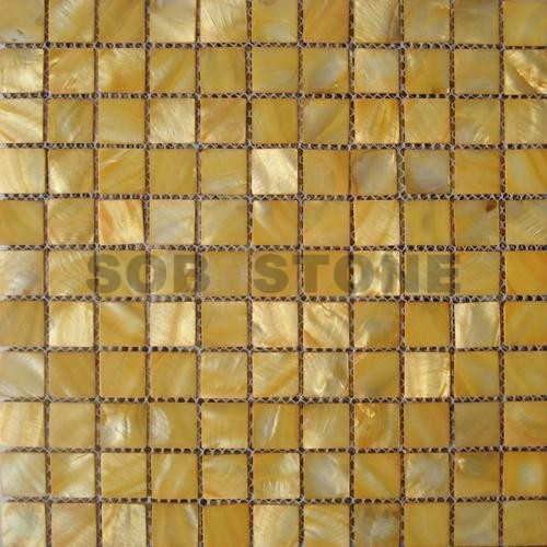 Golden Mother of Pearl Sea Shell Mosaic Tiles