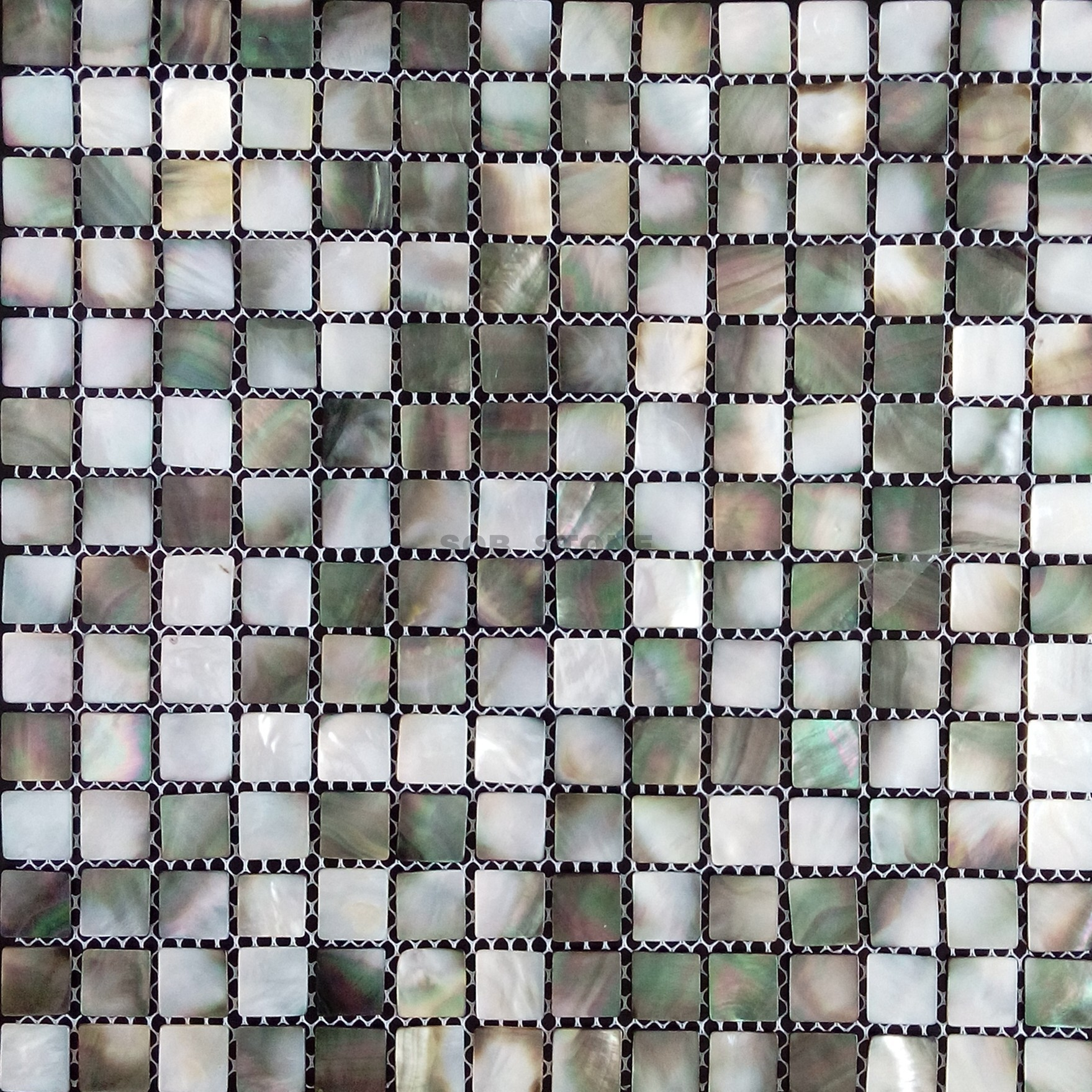 Black Butterfly Mother of Pearl Mosaic Tiles Seashell
