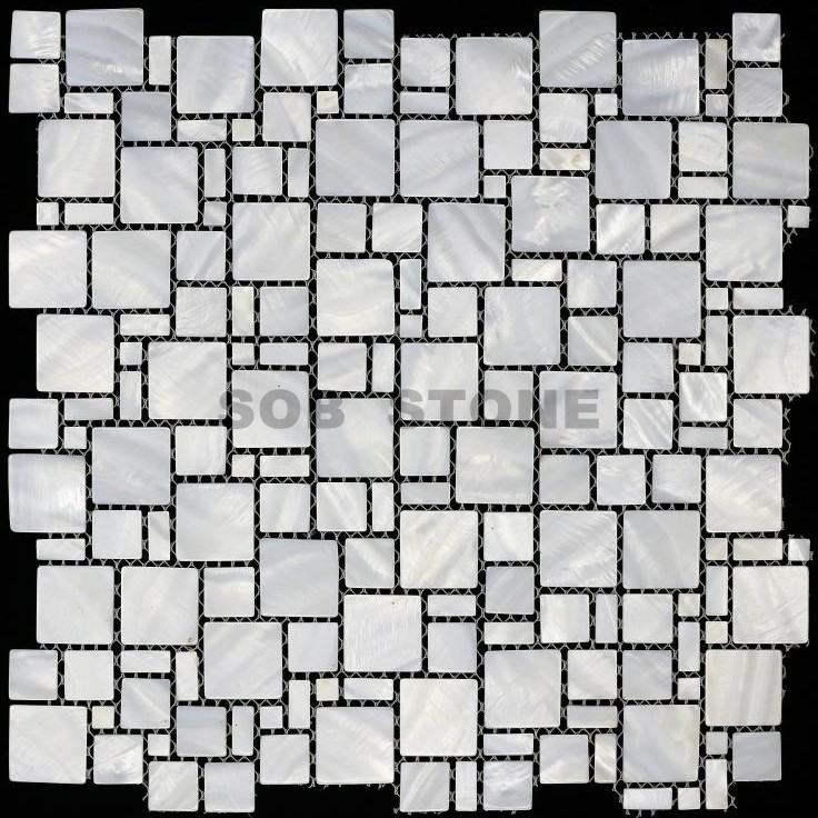 White Natural Mother of Pearl Mosaic Tiles