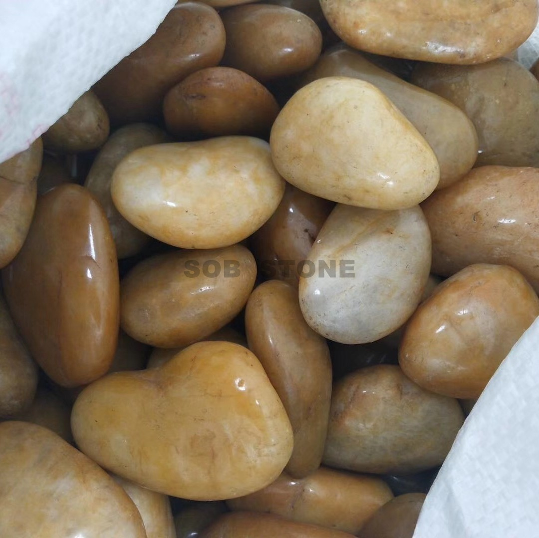 Yellow Polished Pebbles A Grade