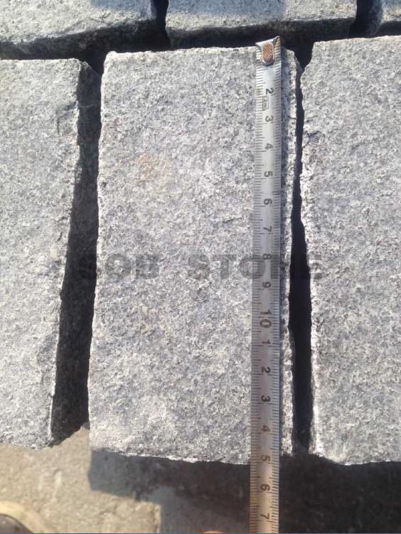 G654 Dark Grey Granite Cobblestone Pavers