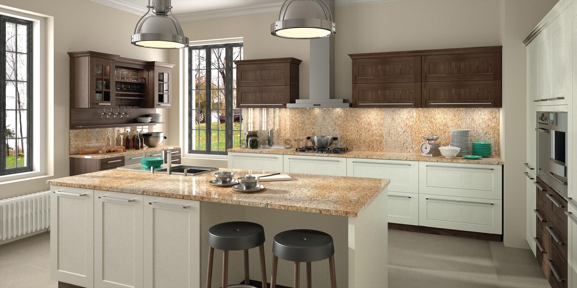 Santa Cecilia Granite Kitchen Island Tops
