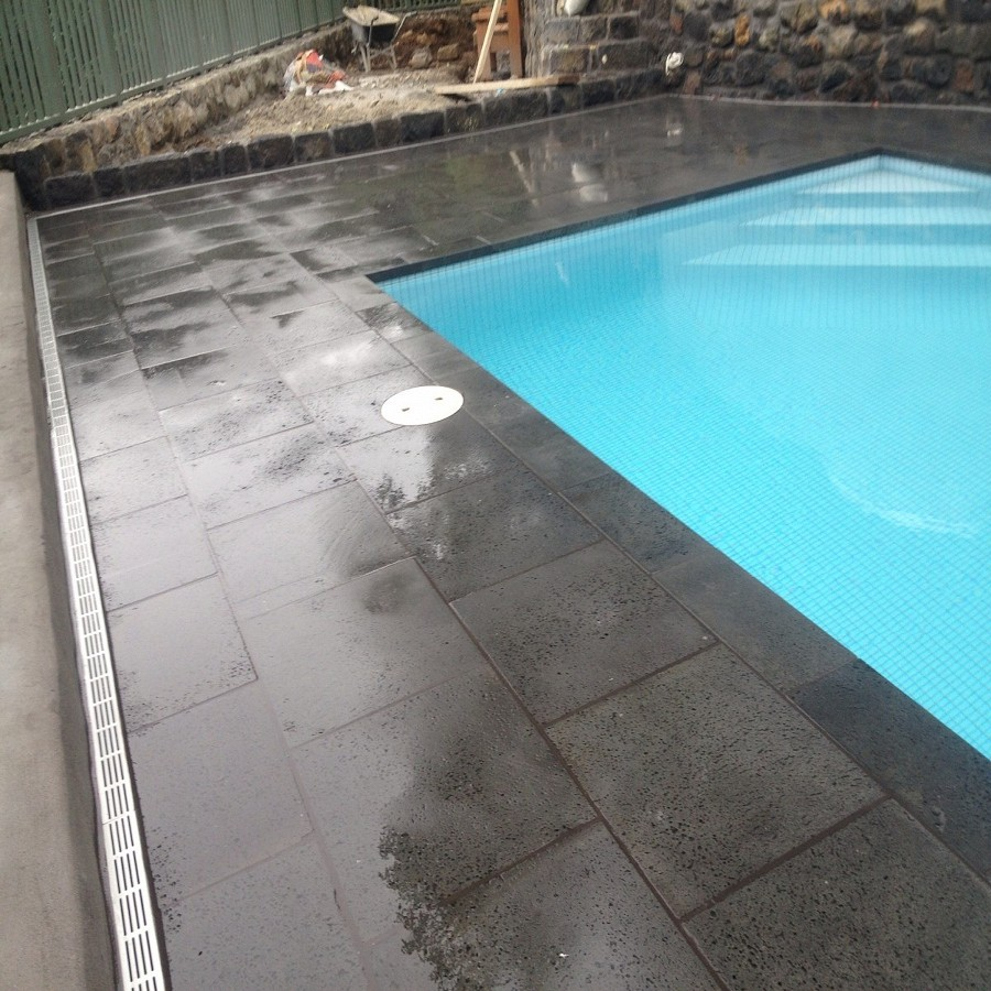 Basalt Pool Coping And Pavers