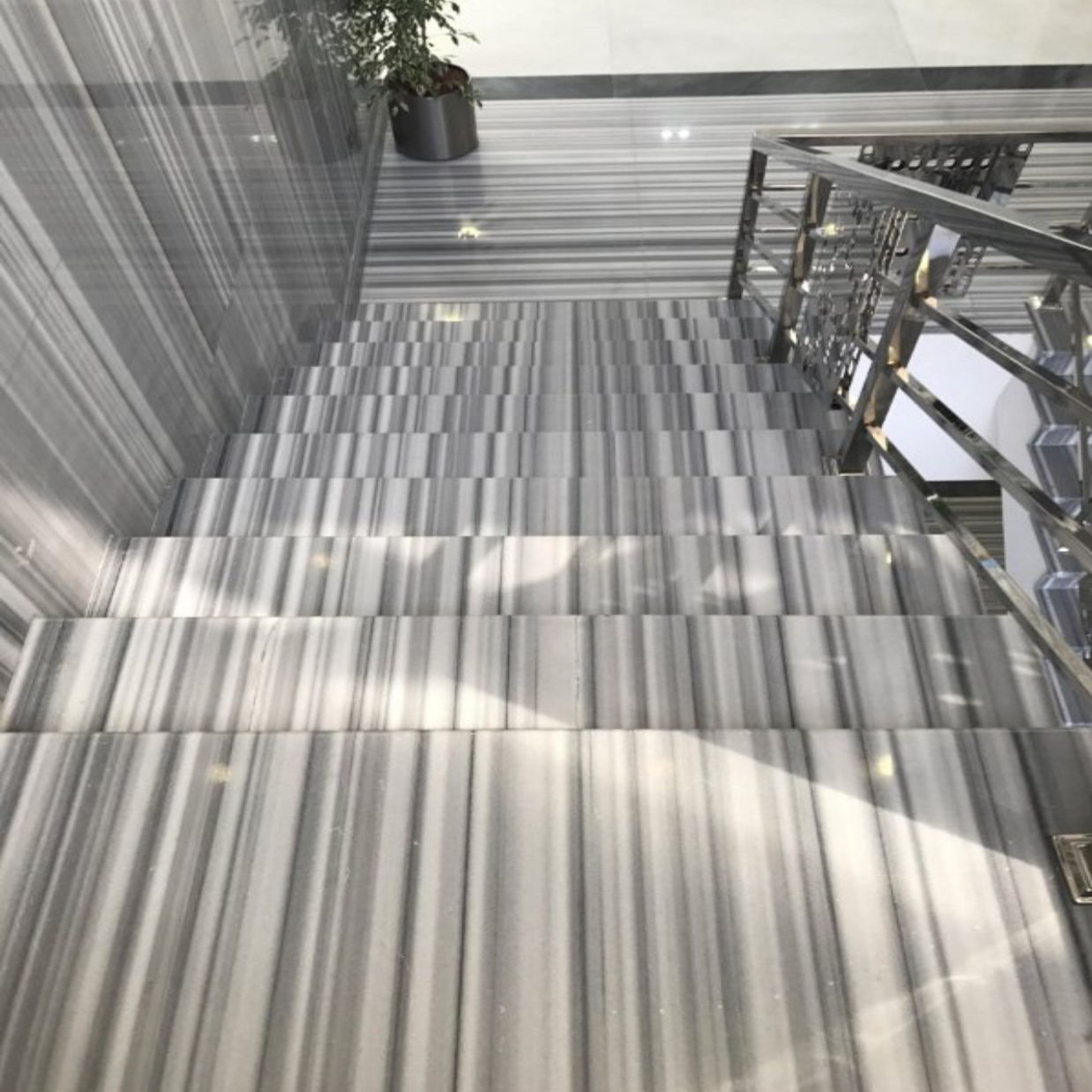 Marmala White Marble Stairs