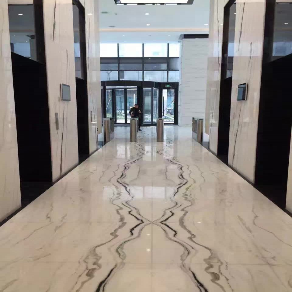 Panda White Marble Wall And Flooring
