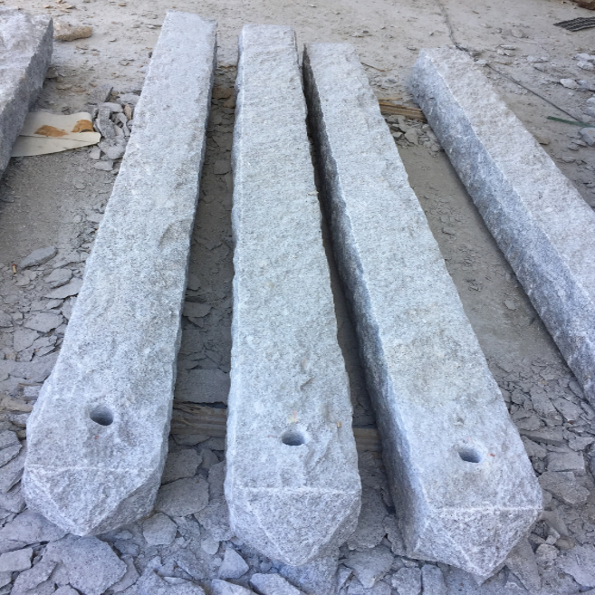 G603 Silver Grey Granite Pillars